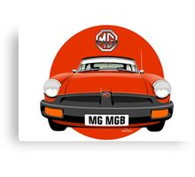 MG MGB rubber bumper blaze red Canvas Print