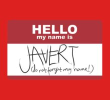 HELLO my name is Javert Kids Clothes