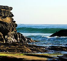 Ocean Splendour - Caves Beach by Bev Woodman