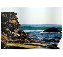 Ocean Splendour - Caves Beach Poster