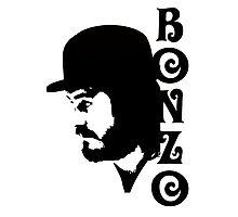 BONZO PROFILE SILHOUETTE - Plain Black Photographic Print