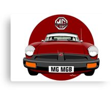 MG MGB rubber bumper damson red Canvas Print
