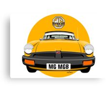 MG MGB rubber bumper yellow Canvas Print