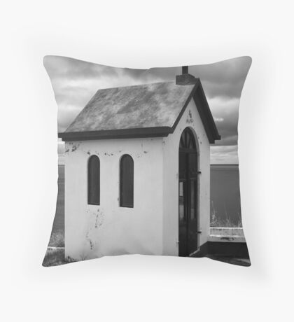 Chapel by the sea Throw Pillow