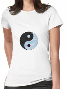 Holographic Yin Yang Womens Fitted T-Shirt