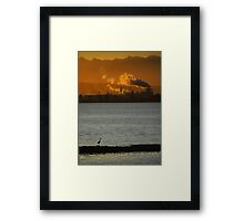 The Sun Is Setting On Civilization Framed Print