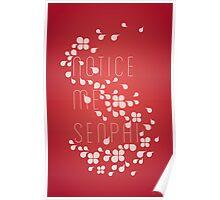 Notice Me Senpai (red) Poster