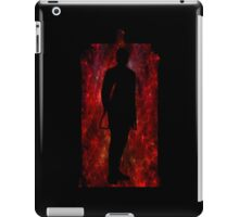 12th Doctor Silhouette Against TARDIS - red iPad Case/Skin