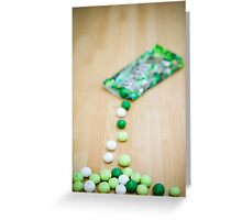 Candy Cascade Greeting Card