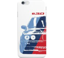 BMW 3 Series (E30) Grungy M stripe overlay iPhone Case/Skin