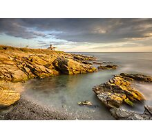 Beavertail Lighthouse at Sunset Photographic Print