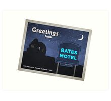 Greetings from Bates Motel! Art Print
