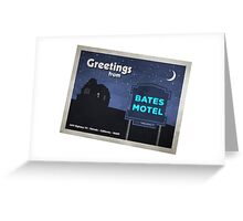 Greetings from Bates Motel! Greeting Card