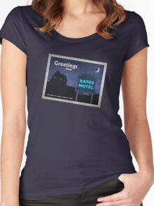 Greetings from Bates Motel! Women's Fitted Scoop T-Shirt