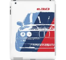 BMW 3 Series (E30) Grungy M stripe overlay iPad Case/Skin