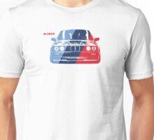 E30 Grungy racing stripe overlay Unisex T-Shirt