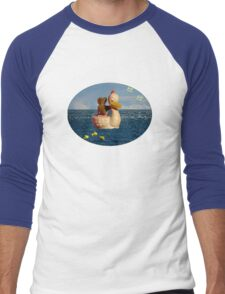 Tiny Teddy and Ducky's Voyage of Adventure Men's Baseball ¾ T-Shirt