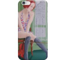 Distraction,girl plays with cat iPhone Case/Skin
