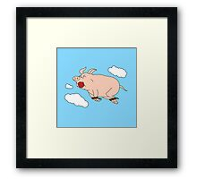 When Pigs Fly Framed Print