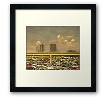 Theme Park Car Park Framed Print