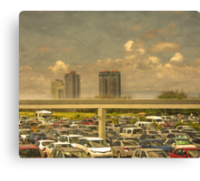 Theme Park Car Park Canvas Print