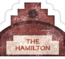 the hamilton building Sticker