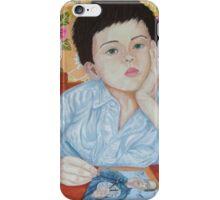 Double Take boy sketching iPhone Case/Skin