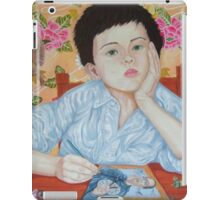 Double Take boy sketching iPad Case/Skin