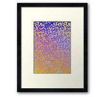Colorful Corroded Background Framed Print