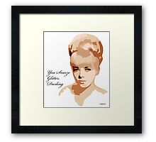 You Sneeze Glitter, Darling Framed Print