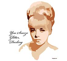 You Sneeze Glitter, Darling Photographic Print