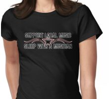 Support Local Music Womens Fitted T-Shirt