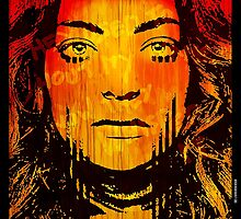 The Girl On Fire by DRD † David Russo Design