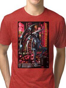Robot Angel Painting 010 Tri-blend T-Shirt