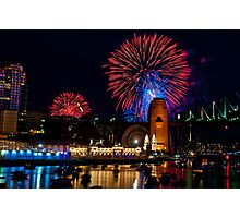 NYE 2008: 9PM Fireworks at McMahons Point Photographic Print