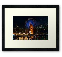 NYE 2008: 9PM Fireworks at McMahons Point Framed Print
