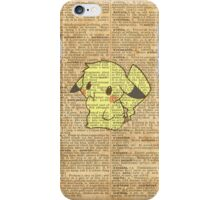 Pokemon - Pikachu Dictionary Texture iPhone Case/Skin