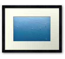 Like Marbles on a Blue Blanket Framed Print
