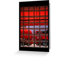Red Truck Stop v1 Greeting Card