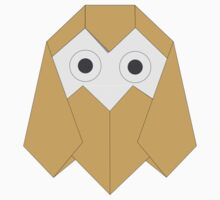 Big-eyed Owl Origami Kids Clothes