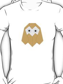 Big-eyed Owl Origami T-Shirt