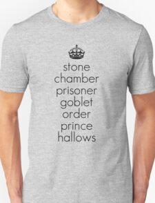 Harry Potter Book Titles Unisex T-Shirt