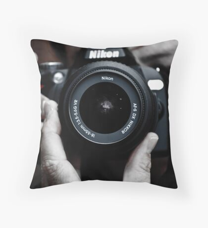 Nikon Shooter Throw Pillow