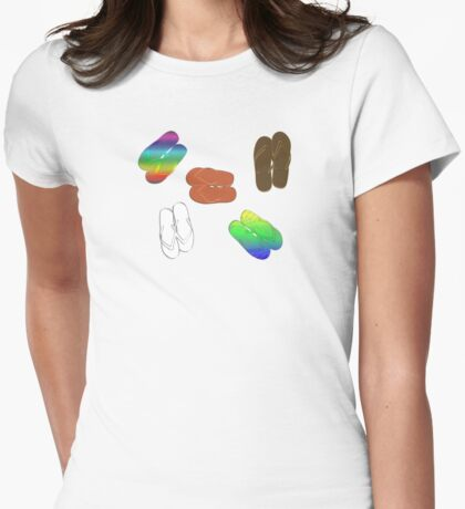 FLIP FLOPS Womens Fitted T-Shirt