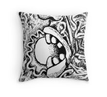 Consume Consume Consume - Black ink Throw Pillow