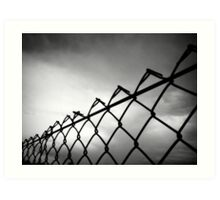 Through The Fence Art Print