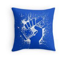 Sega Master System Controller Splat Throw Pillow