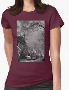 Swanston Street Walk Womens Fitted T-Shirt