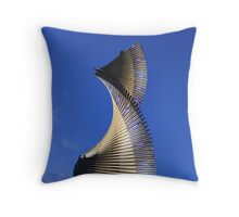 Blue Spiral Throw Pillow