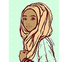 Peach Hijab Photographic Print